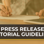 press release editorial guidelines